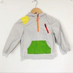 Osh Kosh Color Block Windbreaker Hooded Size 5T